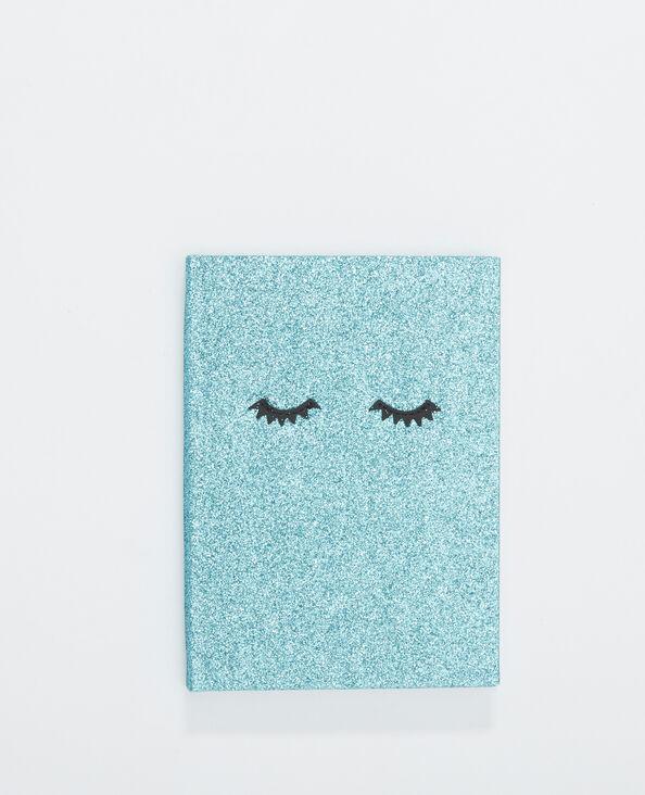 Notebook glitter bleu