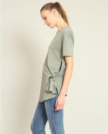 T-shirt met strik groen