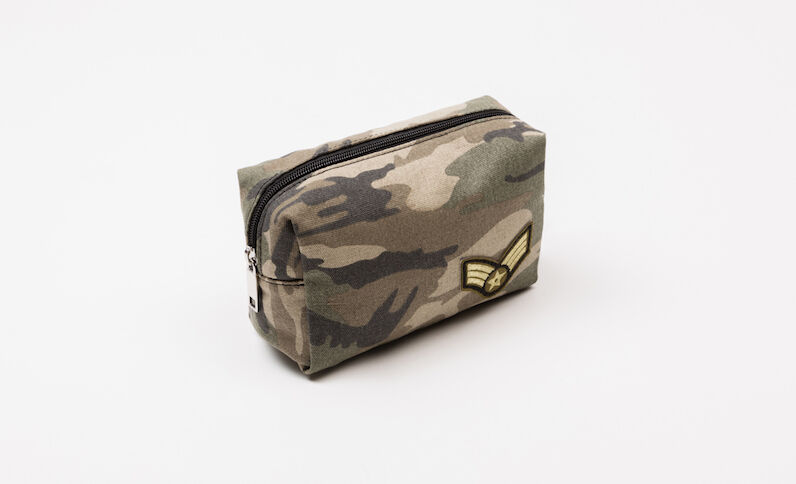 Trousse make-up army vert