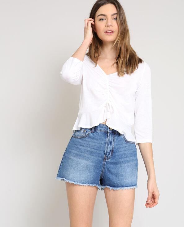 Korte blouse wit