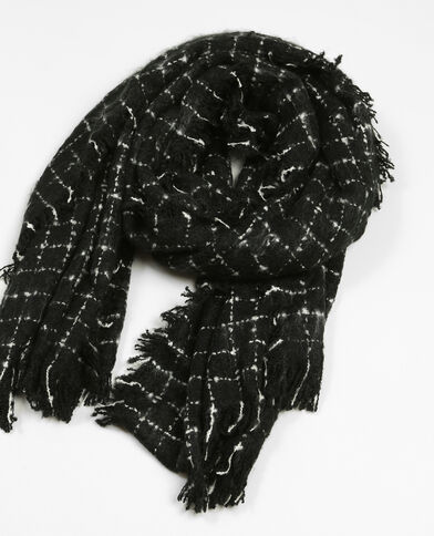Echarpe à carreaux noir