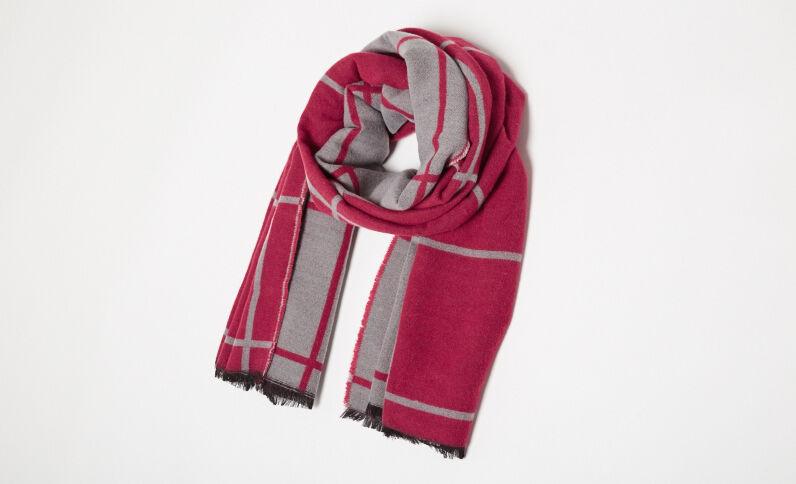 Tweekleurige sjaal roze