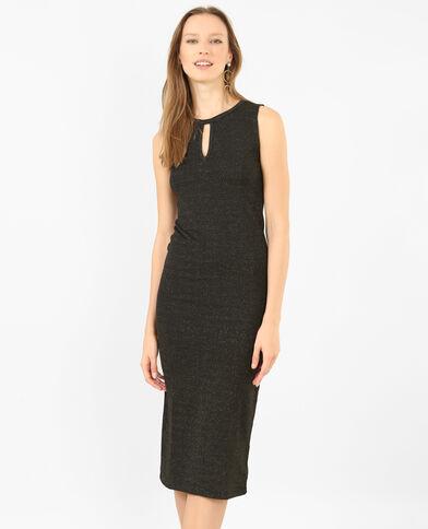 Lange strakke jurk zwart