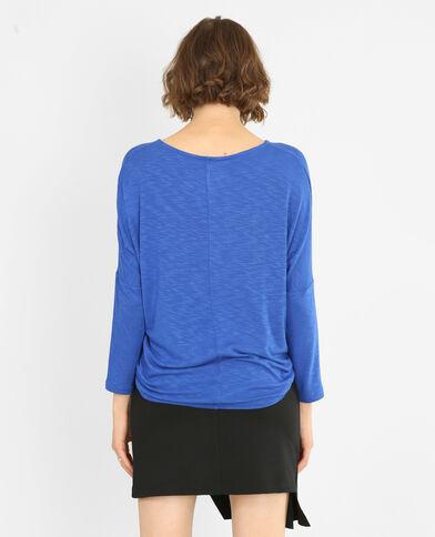 T-shirt met vleermuismouwen blauw