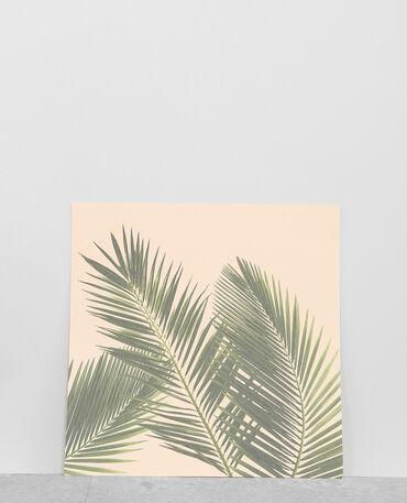 Affiche palmiers rose