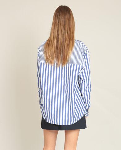 Chemise à rayures blanc