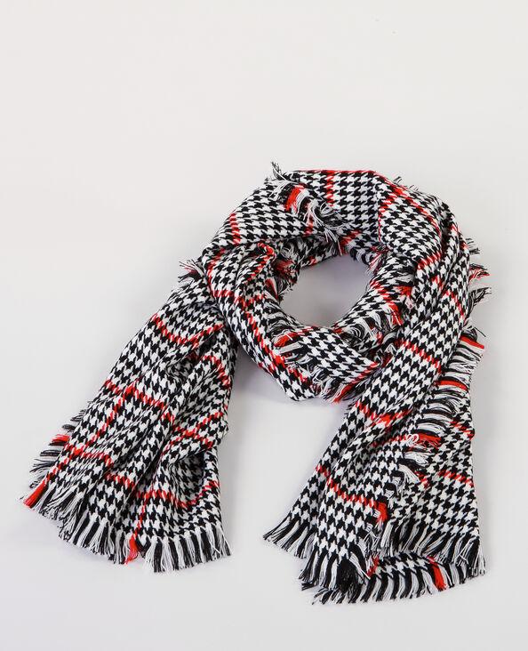 Maxi-sjaal met kippenpootjes ecru