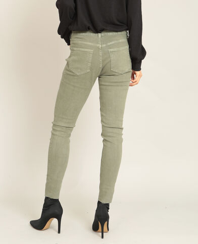 Geborduurde skinny broek groen
