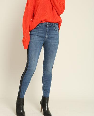 Slim jeans met hoge taille blauw