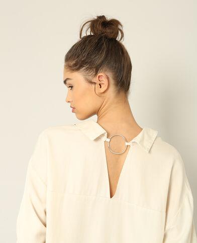 Chemise à dos ouvert beige