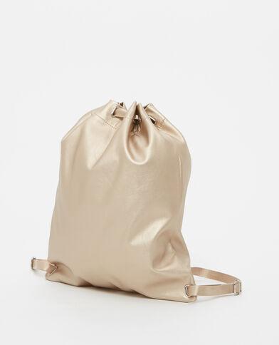Grand sac à dos doré