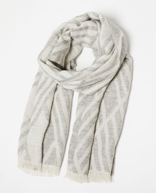 Echarpe à motifs gris