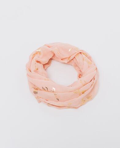 Colsjaal met print roze