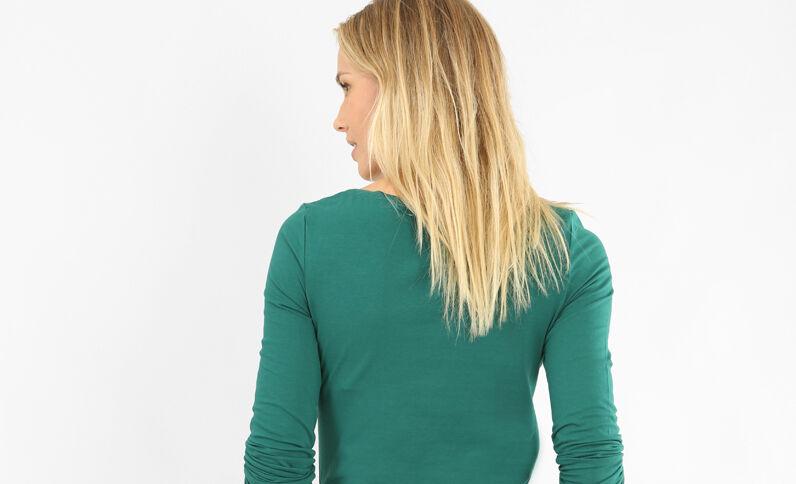 T-shirt à manches longues vert