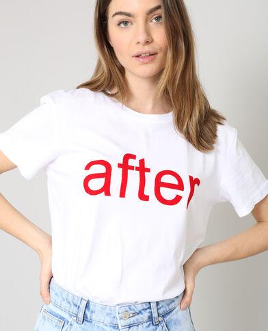 T-shirt AFTER blanc