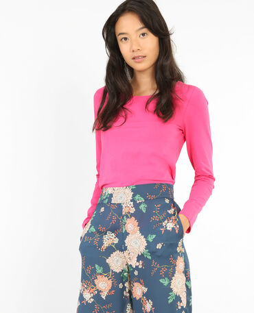 T-shirt à manches longues rose