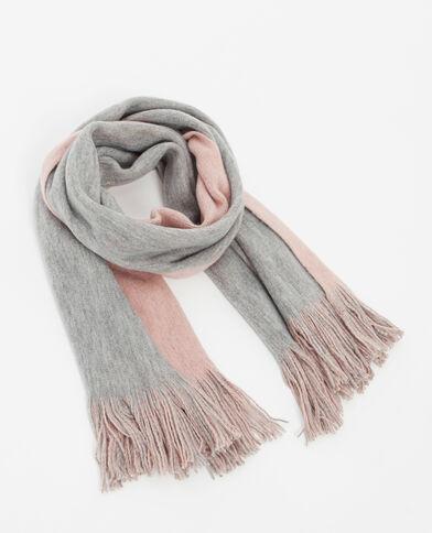 Tweezijdige sjaal grijs