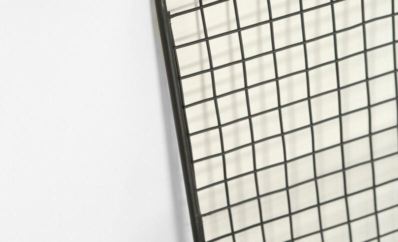 Porte-documents en métal noir