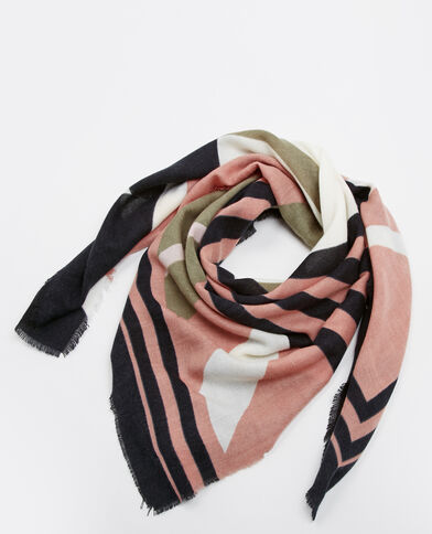 Meerkleurige sjaal zwart