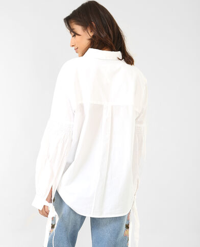 Chemise à manches pagode écru
