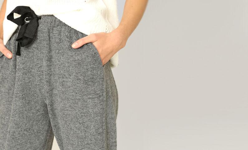 Zachte joggingpants grijs