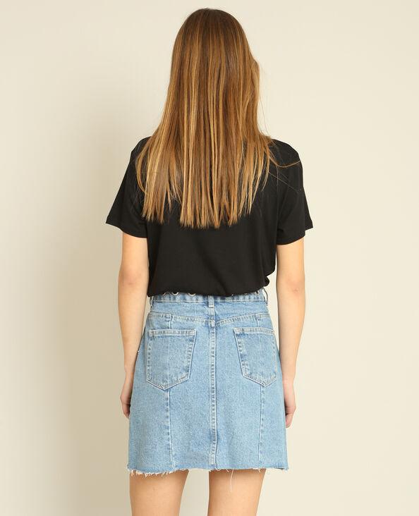 T-shirt met opschrift zwart