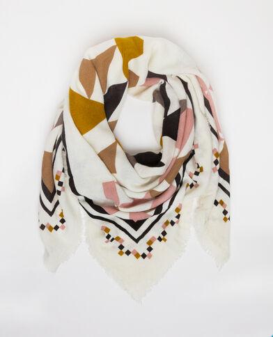 Foulard coloré blanc