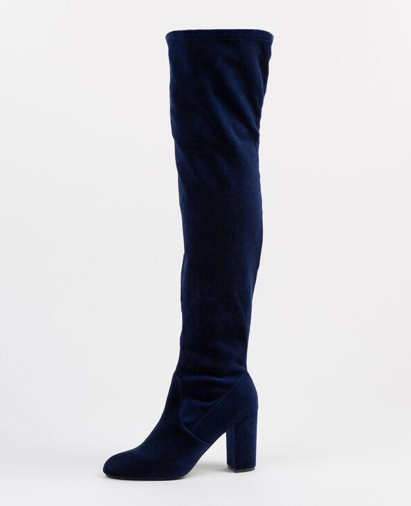 Fluwelen dijhoge laarzen blauw
