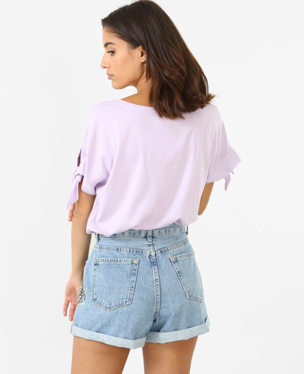 T-shirt ample lilas