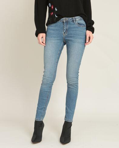 Skinny jeans met middelhoge taille blauw