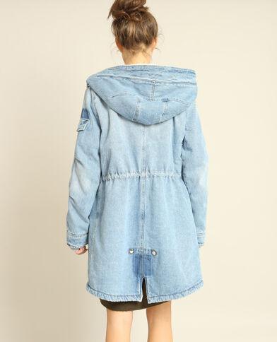Manteau en jean doublé bleu