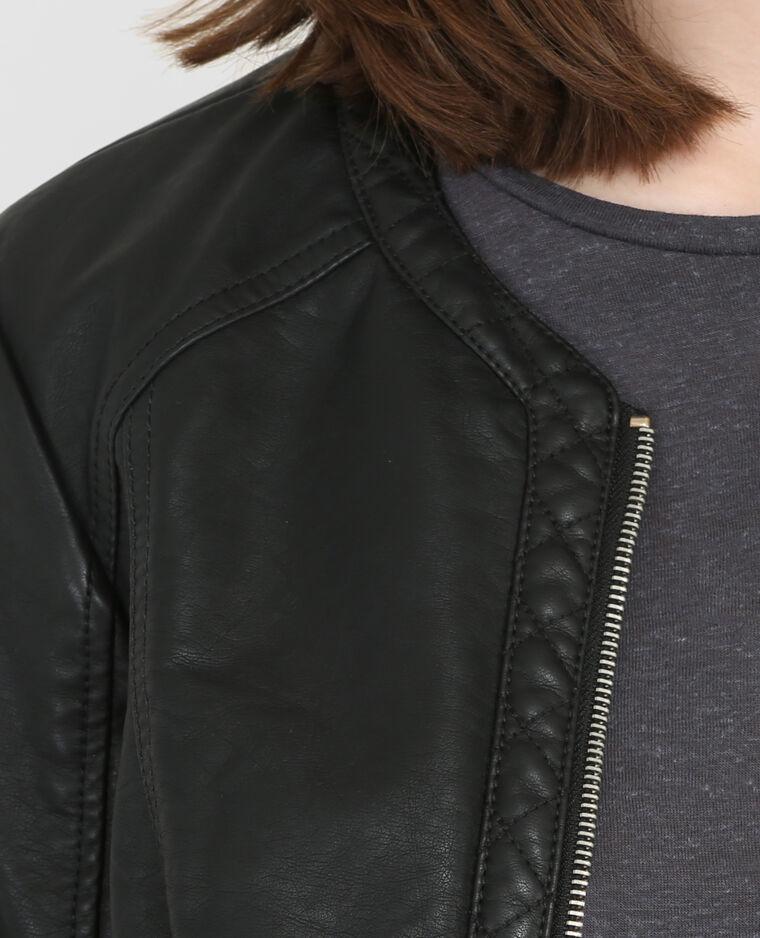 Vest in bikerstijl zwart