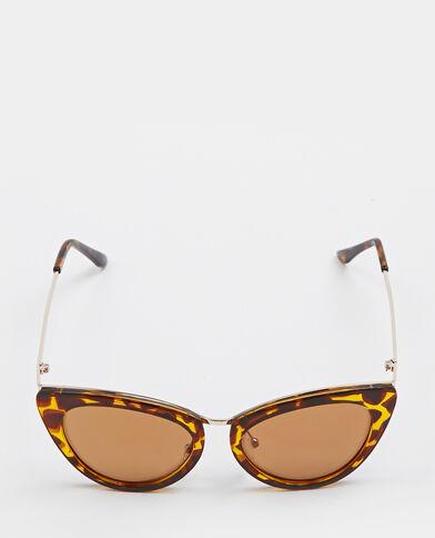 Cat-eye-zonnebril kastanjebruin