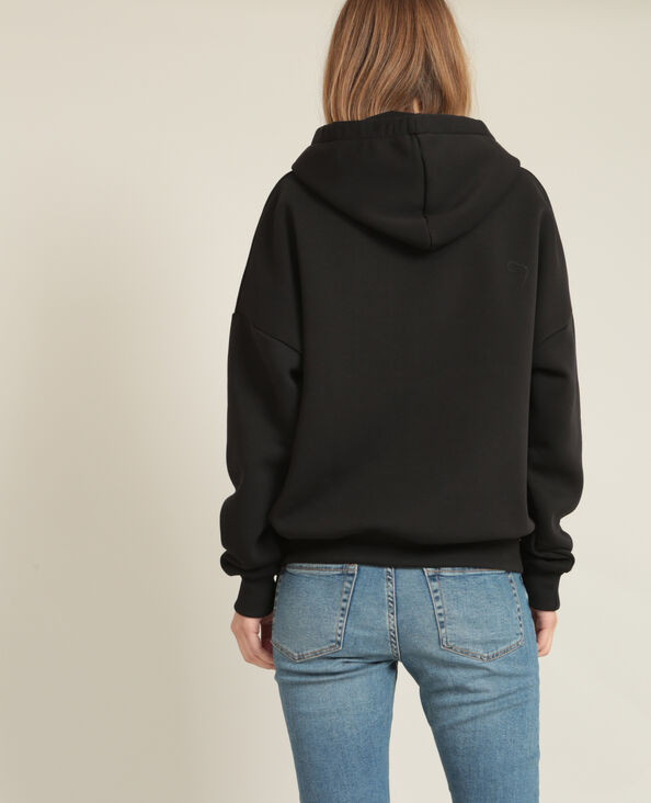 Sweater met kap zwart