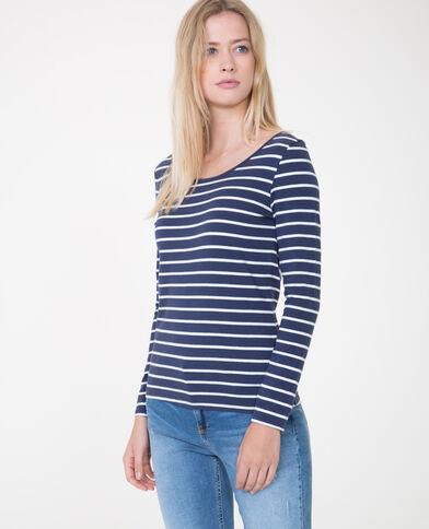 T-shirt met lange mouwen marineblauw