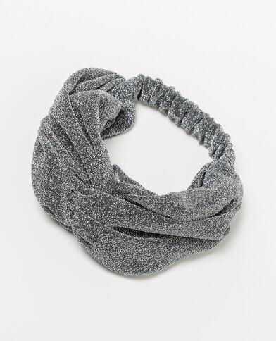 Zilverkleurige haarband van lurex grijs