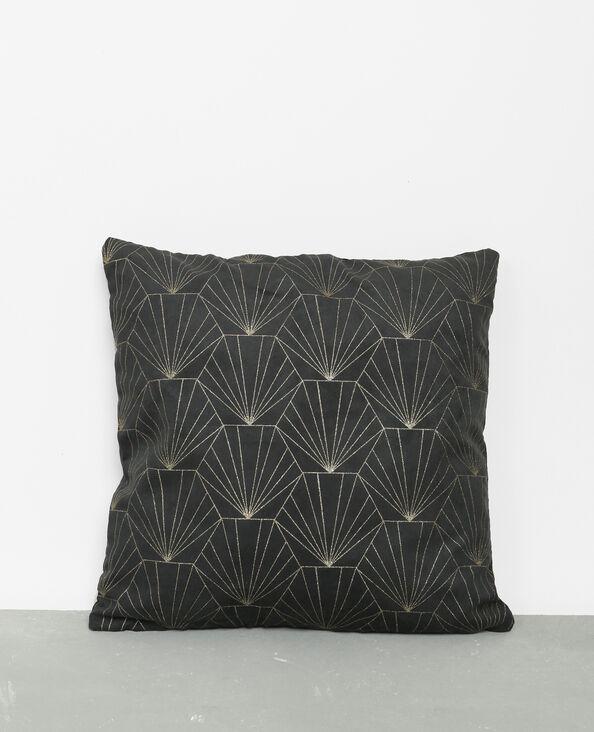 Housse de coussin art déco gris anthracite