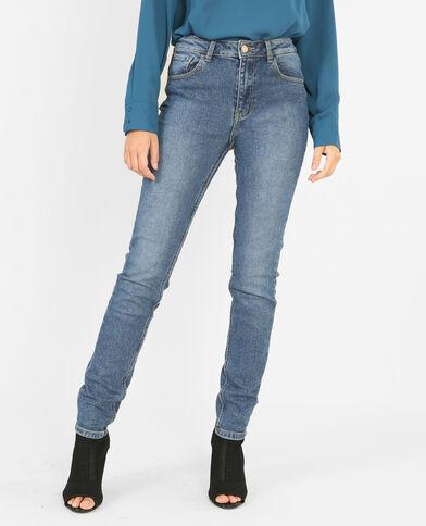 Slim broek met hoge taille denimblauw