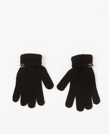 Handschoenen met ringen zwart