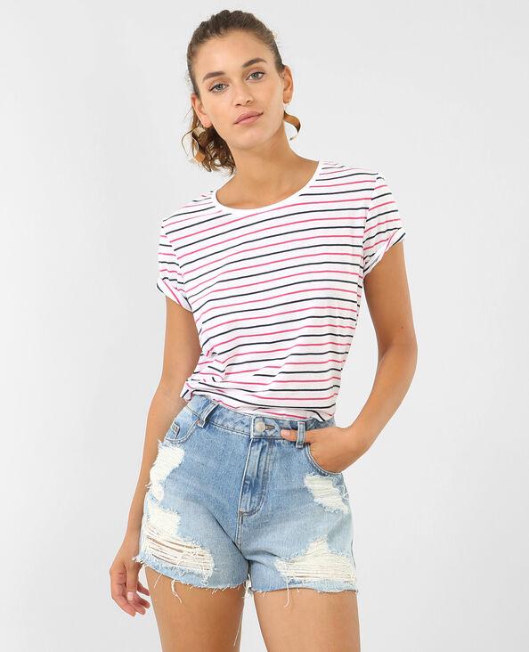 T-shirt met strepen roze