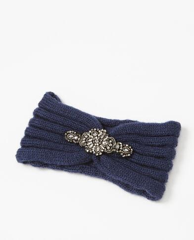 Hoofdband met juwelen blauw