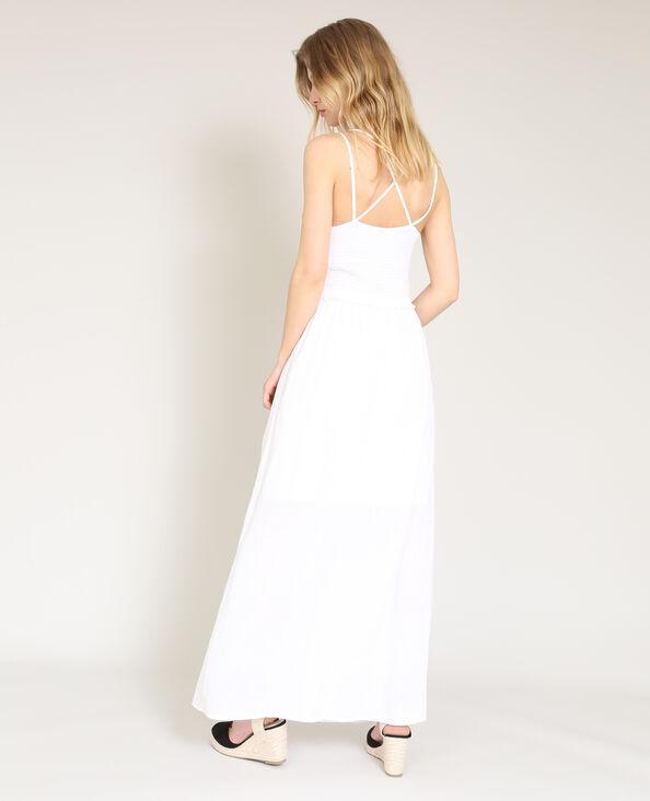 Robe longue à fines bretelles blanc