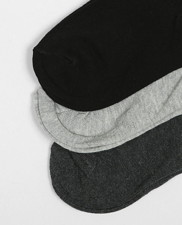 Set enkelsokken grijs