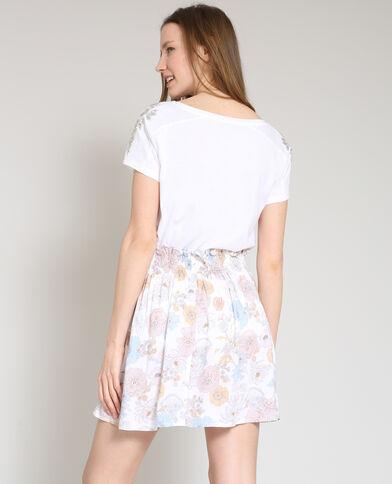 T-shirt met parels wit