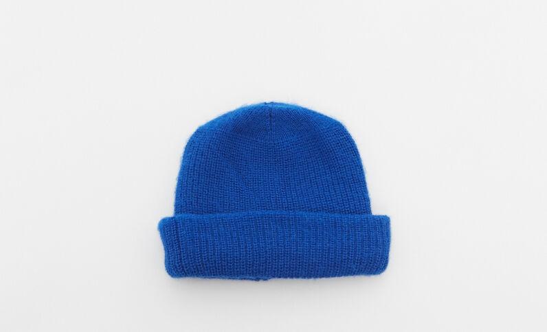 Bonnet à revers bleu