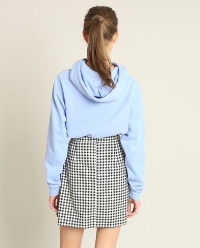 Sweater met kap hemelsblauw
