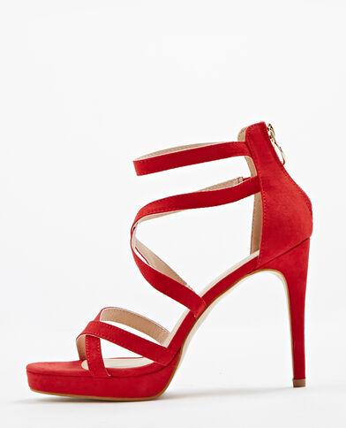 Sandales à talons aiguilles rouge