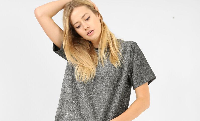 Schitterend T-shirt zwart