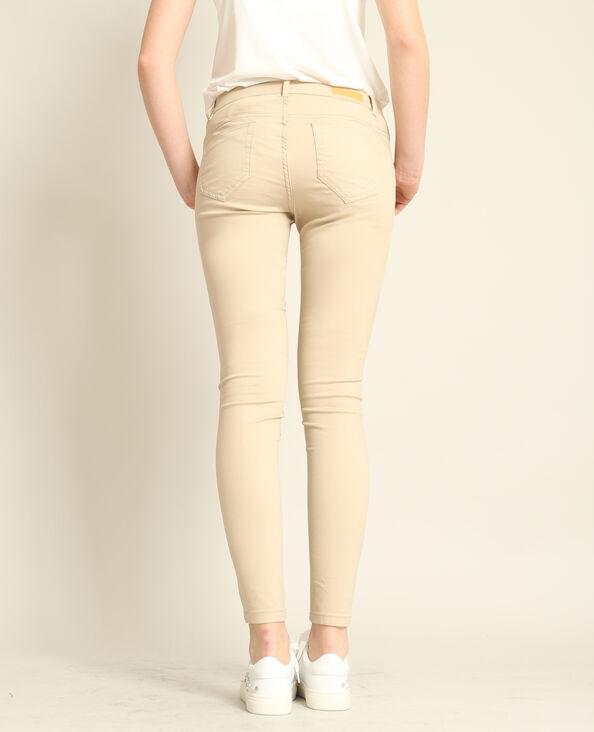 Push-up skinny beige