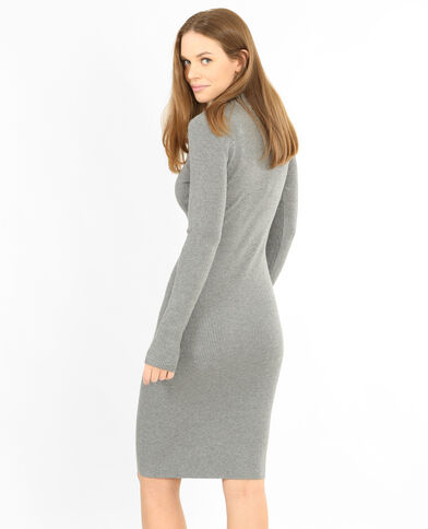 Robe pull moulante gris chiné